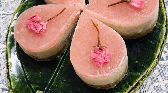 3月お楽しみ会桜の花びらケーキ:我孫子ロースイーツ教室